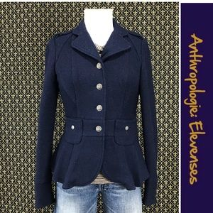"""Anthro """"Flounced Boiled Wool Jacket"""" by Elevenses"""